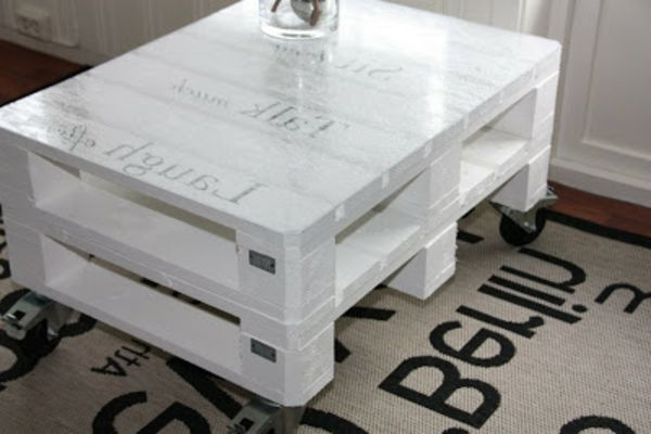 La table basse design en mille et une photos avec beaucoup - Comment faire une table basse en palette ...