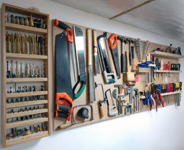 Top 80 Best Tool Storage Ideas Organized Garage Designs In 2020 Garage Tools Tool Storage Diy Workshop Storage