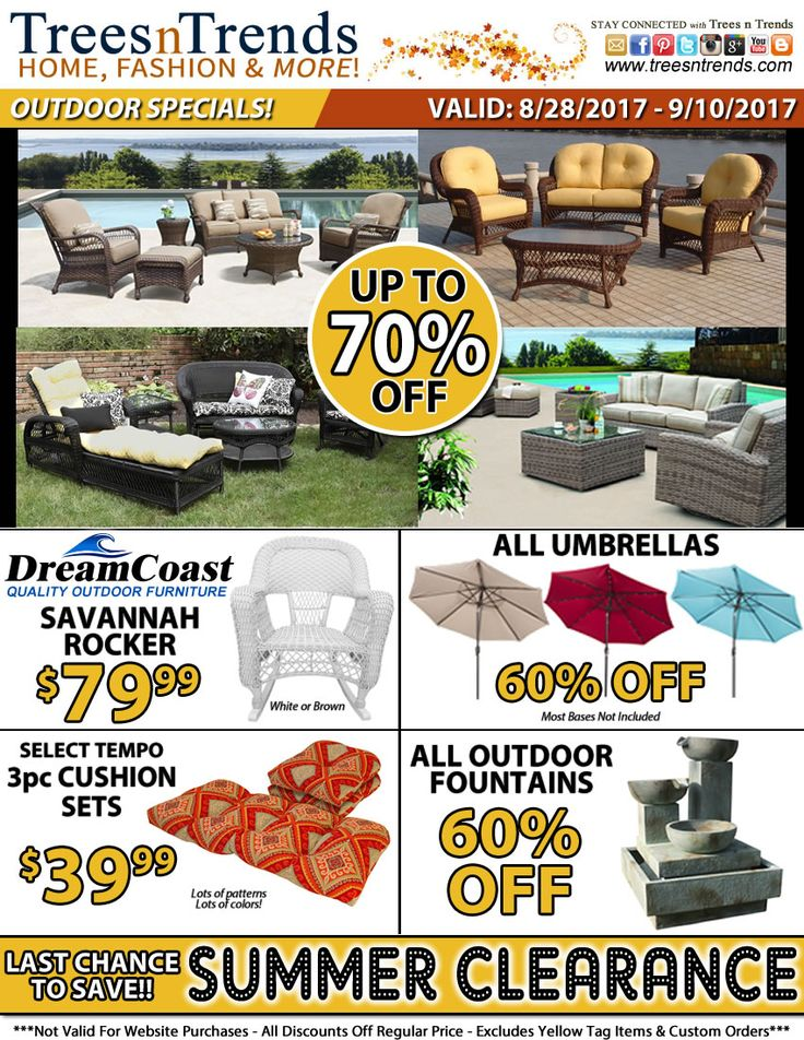Shop Now For HUGE Discounts On Outdoor Furniture, Fall Decor And More! Http: