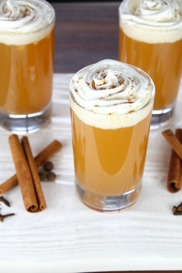 Perfect for Thanksgiving and entertaining during the holiday season, Warm Apple Pie Cocktails have all the best flavors of fall poured into one glass! Top this drink recipe with cinnamon and whipped cream to make one decadent beverage.