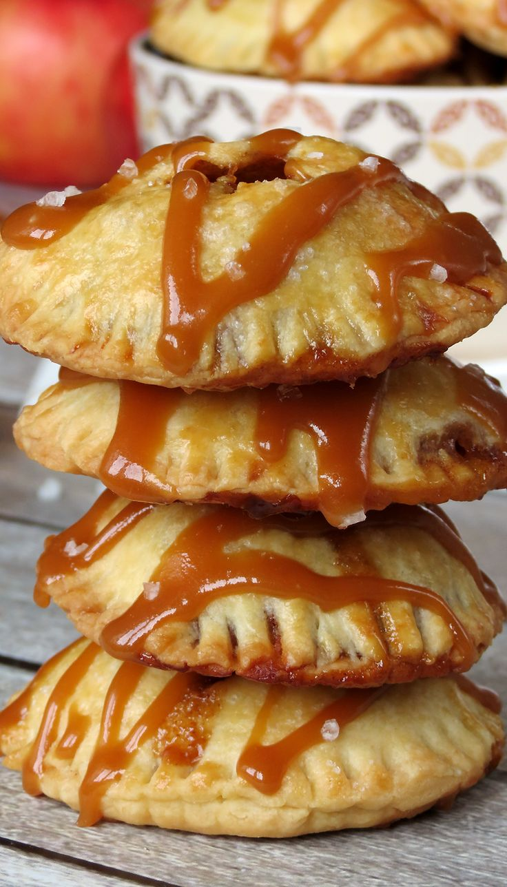 Apples ##cookies #recipes Caramel Apple Pie Cookies | YummyAddiction.com