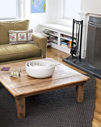 love this table from Sherman Barnwood Furniture (wood reclaimed from an 18th-century barn)