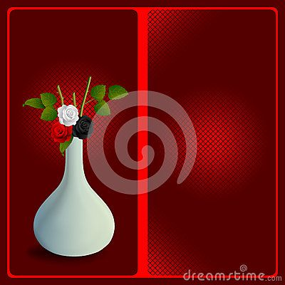 Celebrations background with nice roses