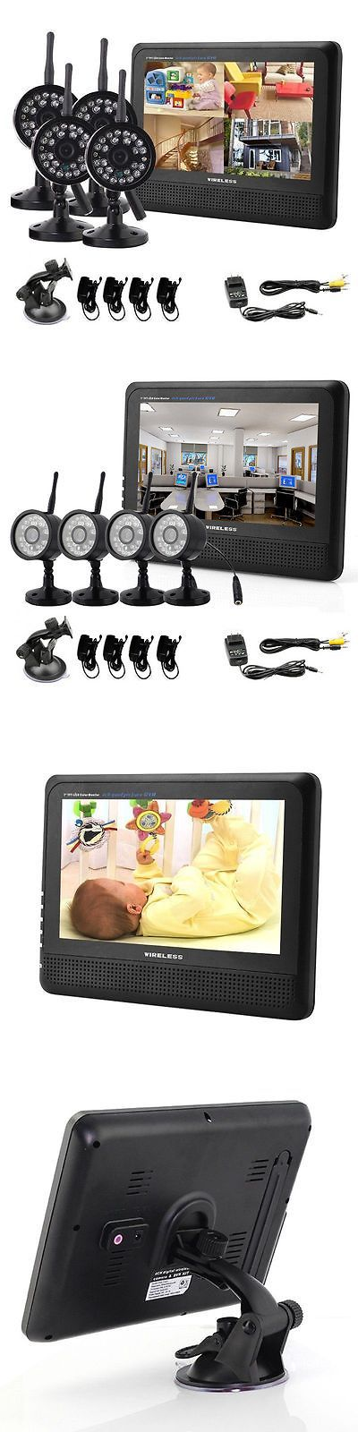 Security Cameras: Wireless Security Spy Camera System 4Ch Ir Night Vision Indoor Dvr Cctv 2.4Ghz BUY IT NOW ONLY: $105.5