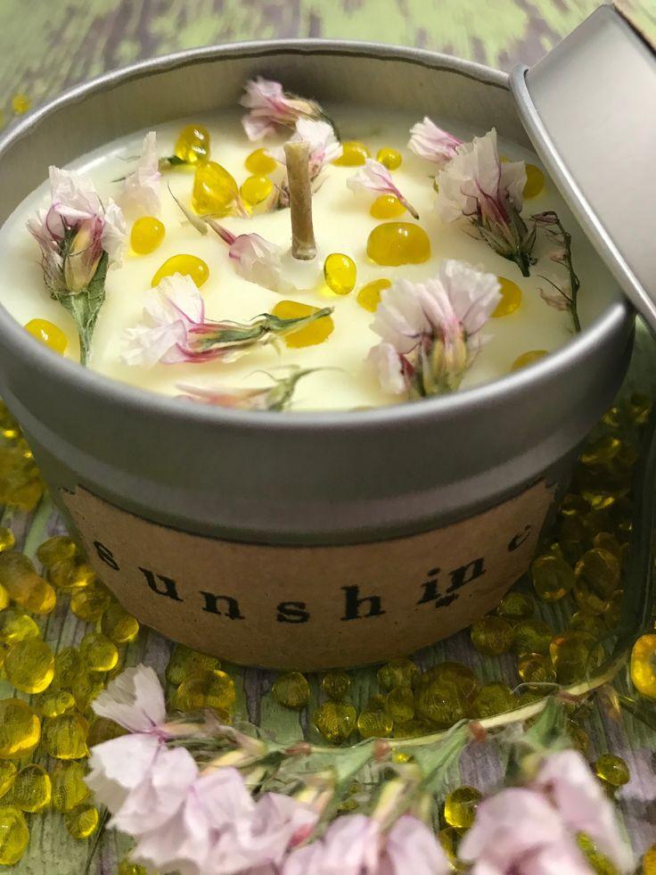 Crystal Candle,Orange Blossom Candle, Spring Candle, Botanical Candle, Gemstone Candle, Aromatherapy candle, Crystal Candle, Orange Blossom