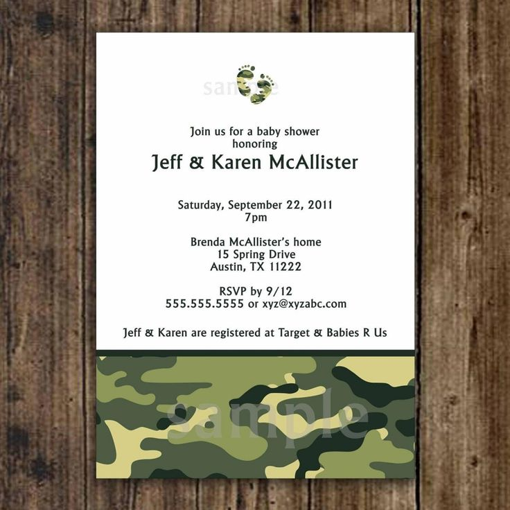 free printable camo baby shower invitations templates%0A Camo Baby Shower Invitation   Army Green   digital printable file   UPRINT    with camouflage FEET