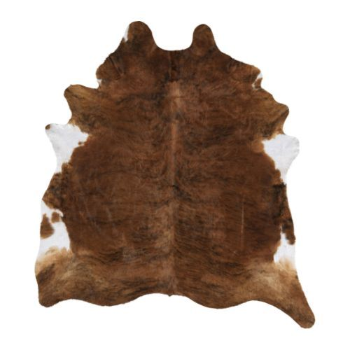 To anchor the seating area, Melissa picked up a cowhide rug similar to  this Koldby Cowhide ($199).