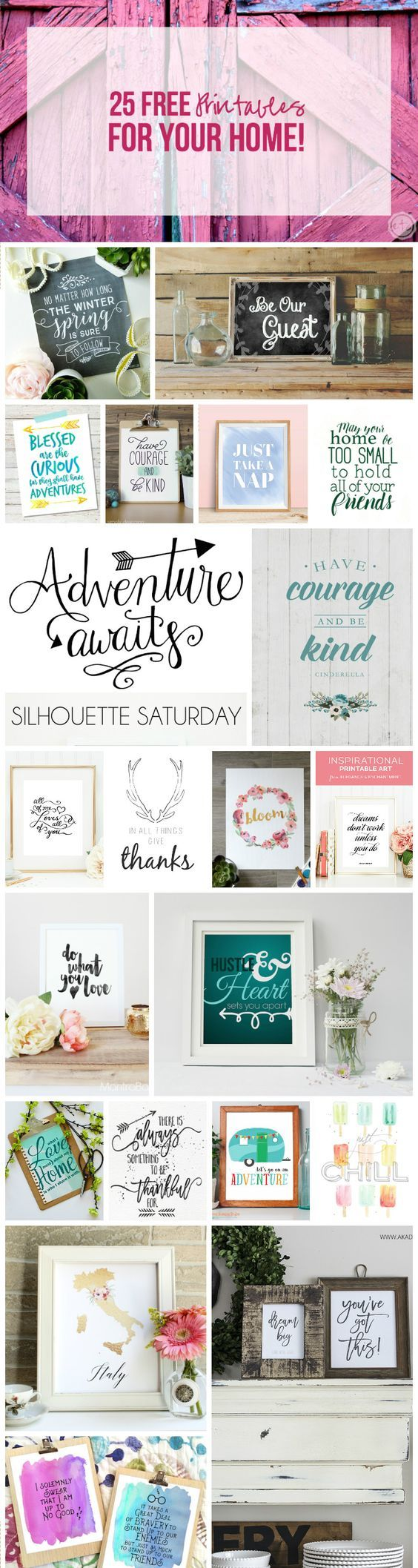 25 FREE Printables For Your Home 1886