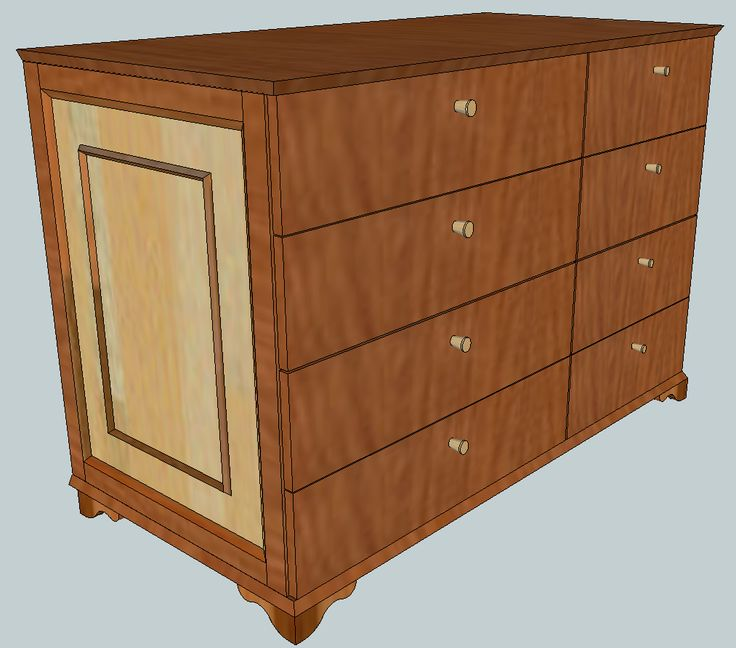 Dresser - Kommode --> Metric design (width: 1244mm, height: 846mm, depth: 624mm); planed boards with the depth 18mm - not a finished furniture. -- // --   Used the KOMPLEMENTs drawer of IKEA 75x58mm and 50x58mm for PAX-System