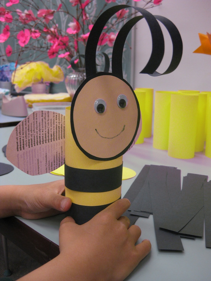 Paper Bumblebees were a popular feature of our May 2013 Paper Craft program!