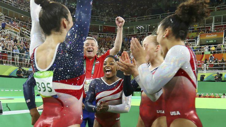 Rio Olympic Games 2016 – August 9 – Gymnastics - Women's team all-around – Gold -  United States -  Score 184.897 - Agência Brasil