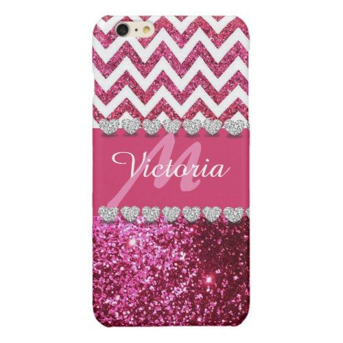 Chic Diamond Monogram Pink Glitter Bling Pattern Glossy iPhone 6 Plus Case Check out our chic Silver iPhone 6/6s Plus Cases collection to see  more luxury iPhone 6 Plus Case, iPhone 6s Plus Case products with the design from silver, silver glitter, silver Sparkling for her, for lady, for woman, for him, for men, for women, for family, for silver lovers. Select an device type option: Apple iPhone 7, Apple iPhone 7 Plus, iPhone 6/6s, iPhone 6/6s Plus, iPhone SE   iPhone 5/5S, iPhone 5C, iPhone…