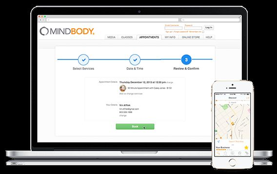 Business Scheduling software, Mind body, Business management