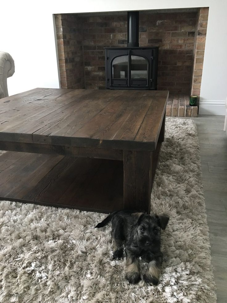 Beautifully Handmade Coffee Table That Oozes The Modern Look Complimenting  A Contemporary Home And Dogs!