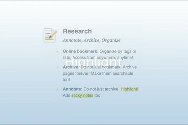 Diigo V4:   Research ~ annotate, archive, organize. Part I of Diigo V4.0 series:   Diigo --  making Researching, Sharing, and Collaborating ...