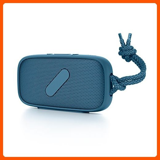 NudeAudio Super-M Portable Wireless Bluetooth Speaker; PETROL; IPX-5 Waterproof and Sand Proof Rating; High Quality Hand Free Phone Audio; Apple MacBook, iPhone 5, iPhone 6/6s/6 Plus, and Samsung Galaxy, Android Compatible - Little daily helpers (*Amazon Partner-Link)
