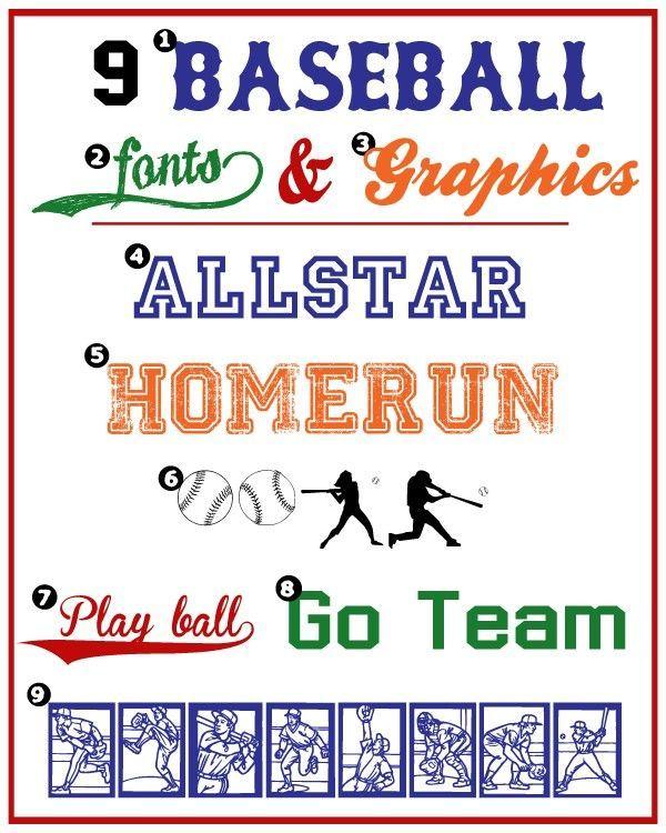 Baseball Fonts & Graphics - Liz on Call