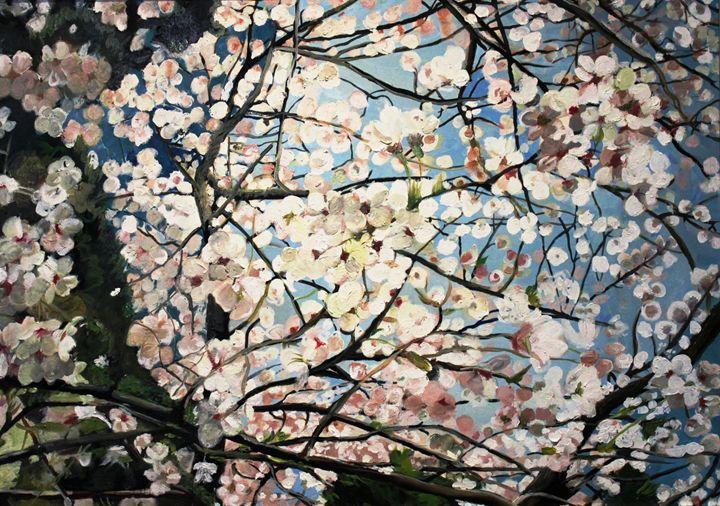 Cherry Blossom Tree - Lenka Graner's Paintings