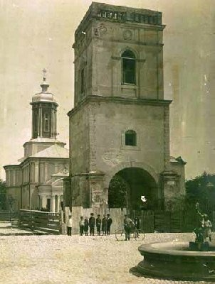 Focsani - Turnul cu clopotnita al manastirii Sf Ion - aprox 1900