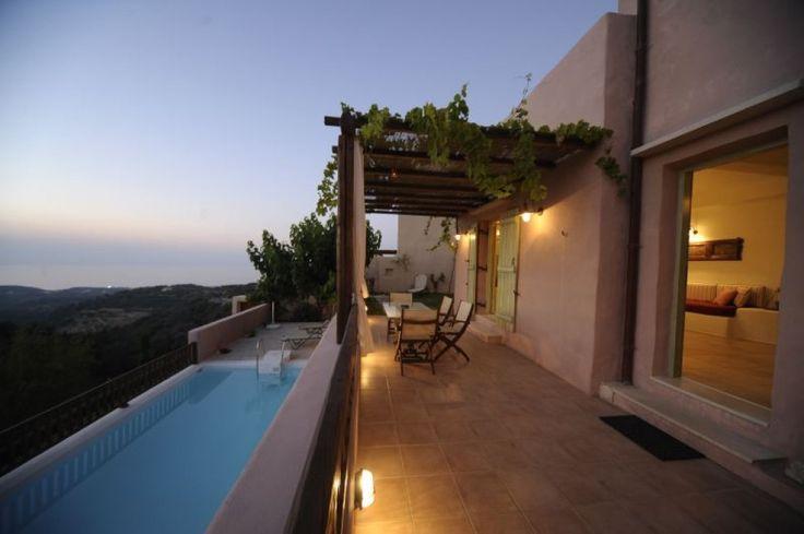 Holiday Villa in Rethimno, Crete - Three bedroom Rodia villa with great sea view