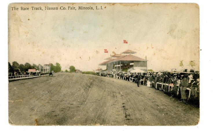 Mineola LI NY - RACE TRACK AT NASSAU COUNTY FAIR - Postcard   eBay
