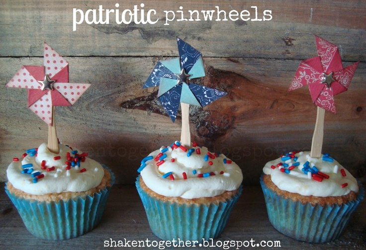5 five-minute patriotic cupcake toppers