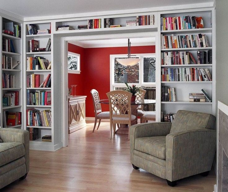 contemporary home library decorating ideas - Google Search