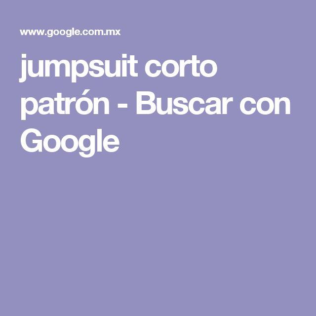 jumpsuit corto patrón - Buscar con Google
