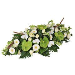 Découvez nos compositions de fleurs Deuil. Qualité et fraîcheur des fleurs extra, compositions fleurs réalisées par nos artisans fleuristes et livrées à l'heure de la cérémonie