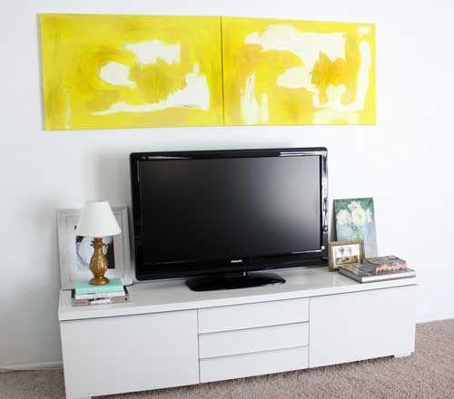 A beautiful IKEA besta burs TV units