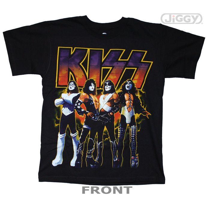 19 best kiss t shirts merchandise images on pinterest for Kicks on fire t shirt