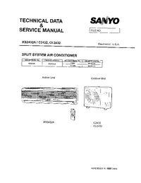 Sanyo C 2432 Air Conditioner Service Manual