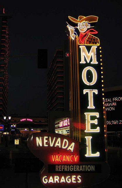 Nevada Motel Neon Sign Las Vegas
