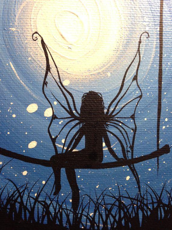 I wish I may 9 x 12 acrylic on canvas ready to hang by