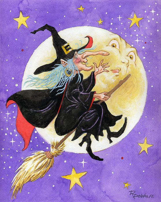 'Mad Millie' by Richard De Wolfe. I love the expression on the moon's face....
