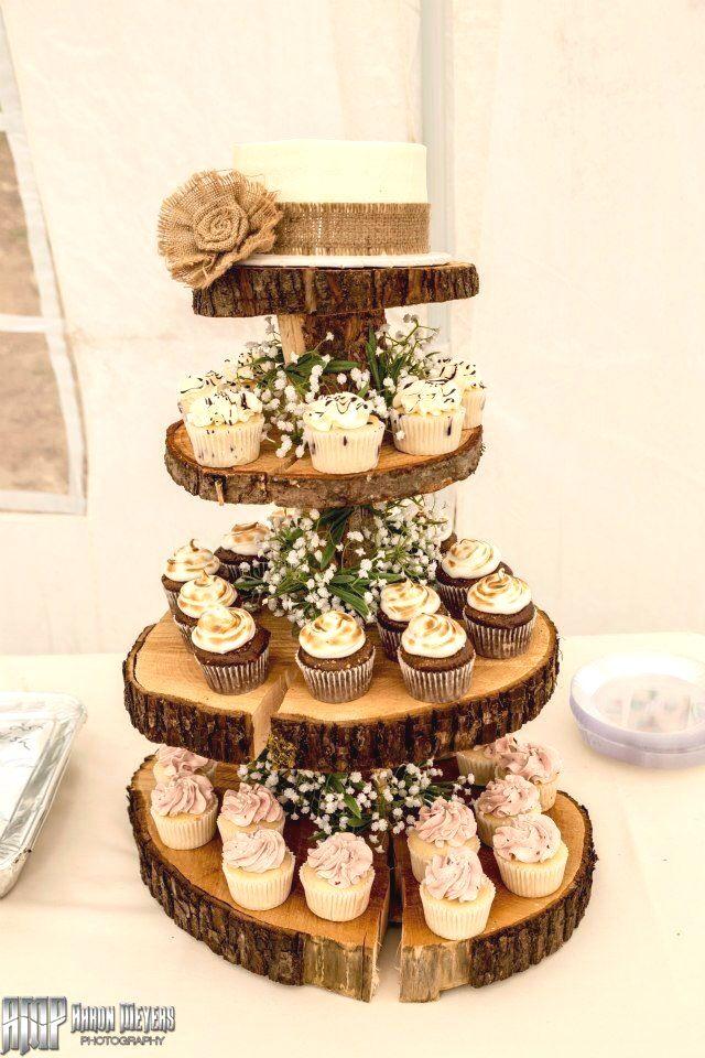 Rustic Wedding Cakes rustic in 2020 Diy cupcake stand