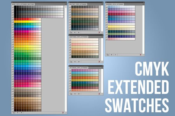 Great CMYK Extended Swatches-Illustrator