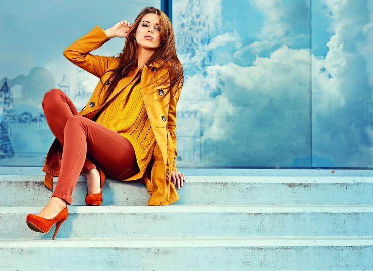 Günün önerisi: Sıcak renkleri sevenlere sarı&turuncu uyumu. #Fashion #Stil #Kombin www.adimadim.com.tr