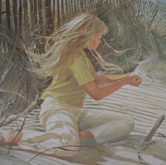 carolyn blish art | ... Carolyn Blish Beach Child Numbered Fine Art Print Nature Beach Artwork