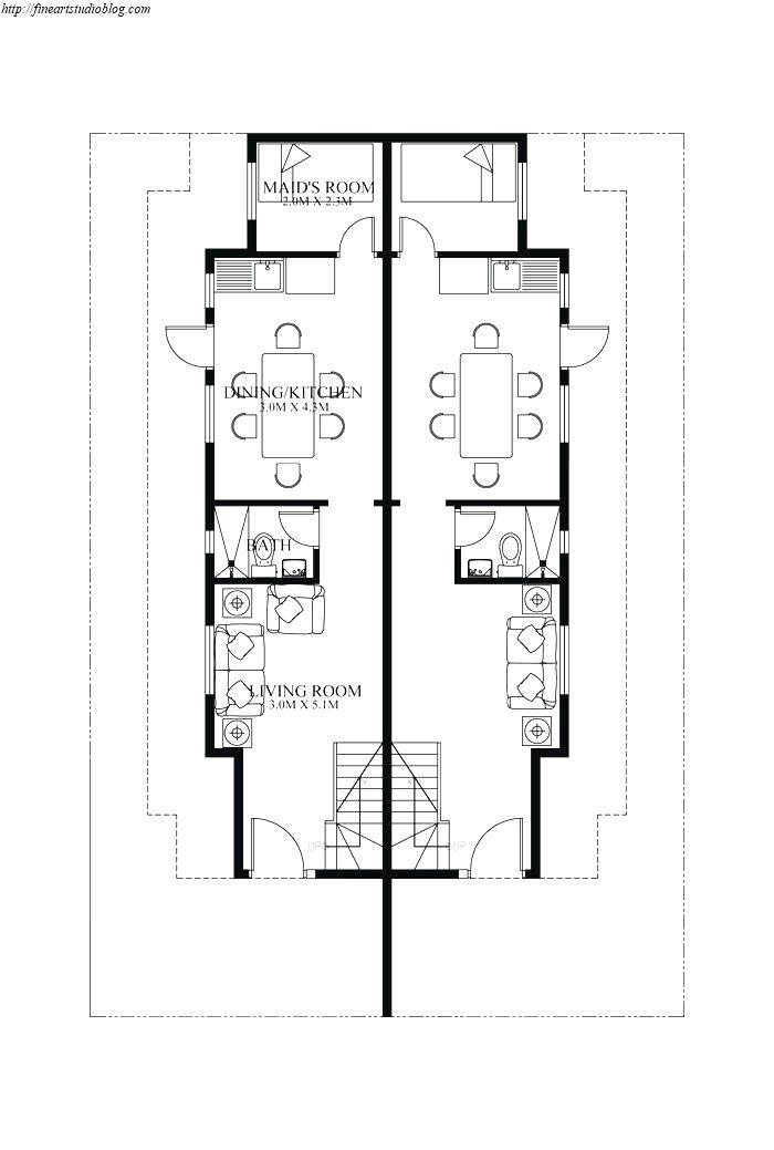 33 Fascinating Narrow Duplex Plans Gallery Desain Ide Dekorasi Modern
