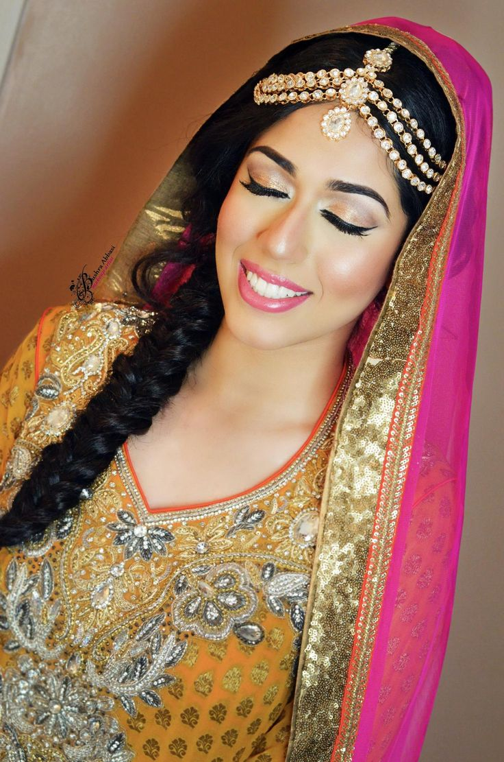Mehndi Makeup : Beautiful mehndi bride makeup by bushra abbasi