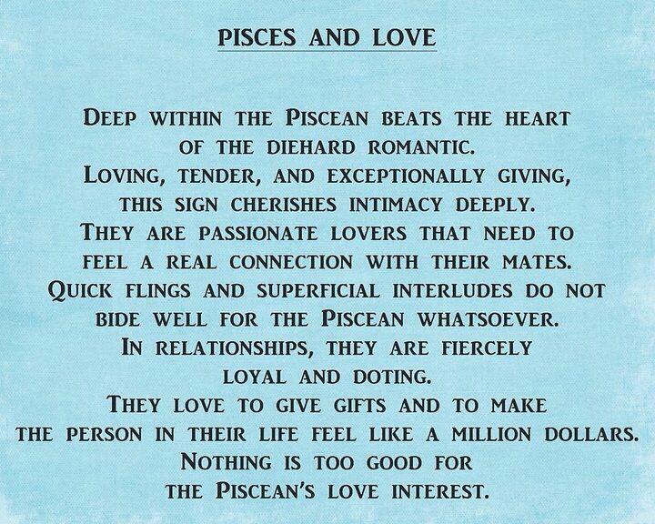 How to know a pisces man is in love