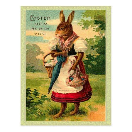 Vintage Easter Bunny Postcard - click/tap to personalize and buy