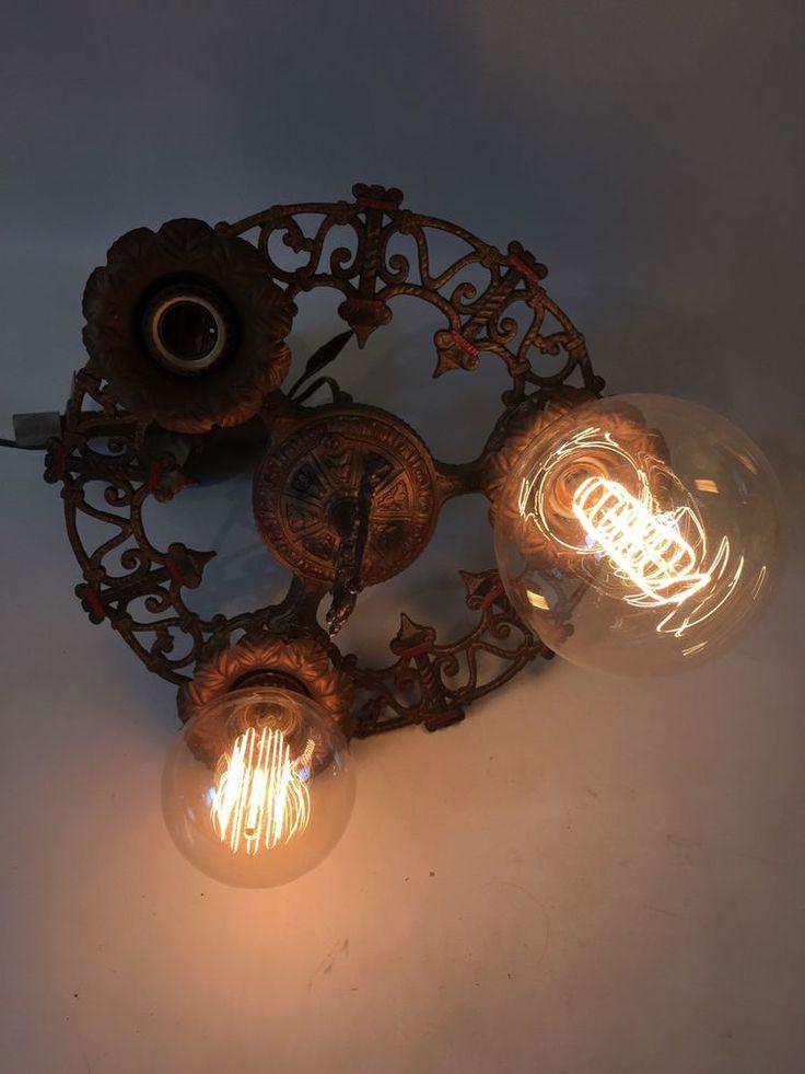 RARE ANTIQUE VINTAGE ART DECO Ceiling Light