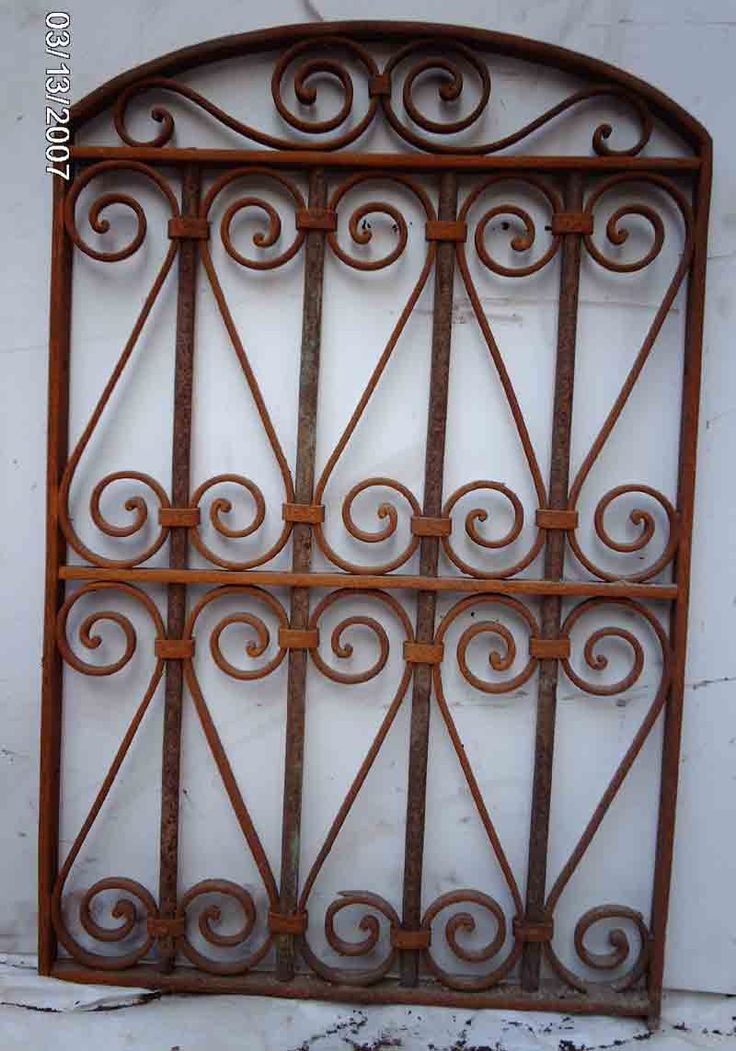 Wrought Iron Victorian Gate Hanging Wall Garden Decor 6 Click Image To Close