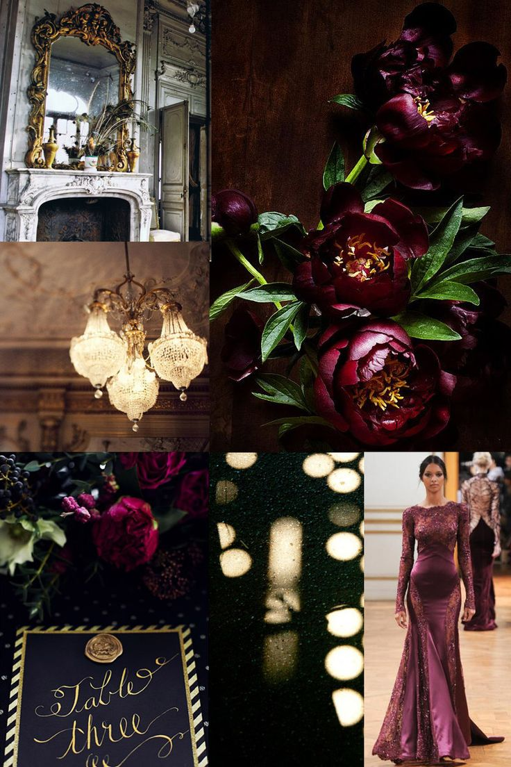 Gold & Garnet Decadence | Whiter than White Weddings  I LIKE THIS, IT'S RICH AND GOOD FOR WINTER WEDDING... RICH PURPLE