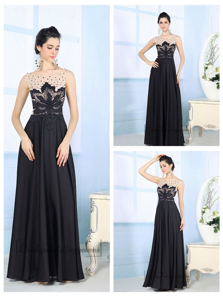 Black Illusion Boat Neckline Embroidered Floor Length Prom Dresses http://www.ckdress.com/black-illusion-boat-neckline-embroidered-floor-  length-prom-dresses-p-2036.html  #wedding #dresses #dress #Luckyweddinggown #Luckywedding #wed #clothing   #gown #weddingdresses #dressesonline #dressonline #bridaldresses