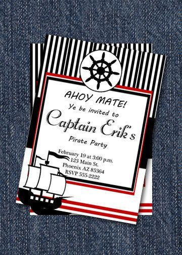 17 best ideas about pirate birthday invitations on pinterest, Birthday invitations