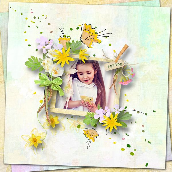 """""""Song of Spring"""" by MiSi Scrap  http://www.digiscrapbooking.ch/shop/index.php?main_page=product_info&cPath=22_225&products_id=21361  RAK for a friend Emilija"""