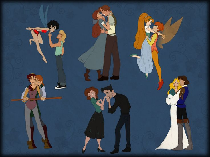 Crysta and Zak – FernGully  Odette and Derek – The Swan Princess  Thumbelina & Cornelius – Thumbelina  Kayley and Garrett – Quest for Camelot  Anastasia and Dimitri – Anastasia  Annie and Dean – The Iron Giant. *squeak!* :D